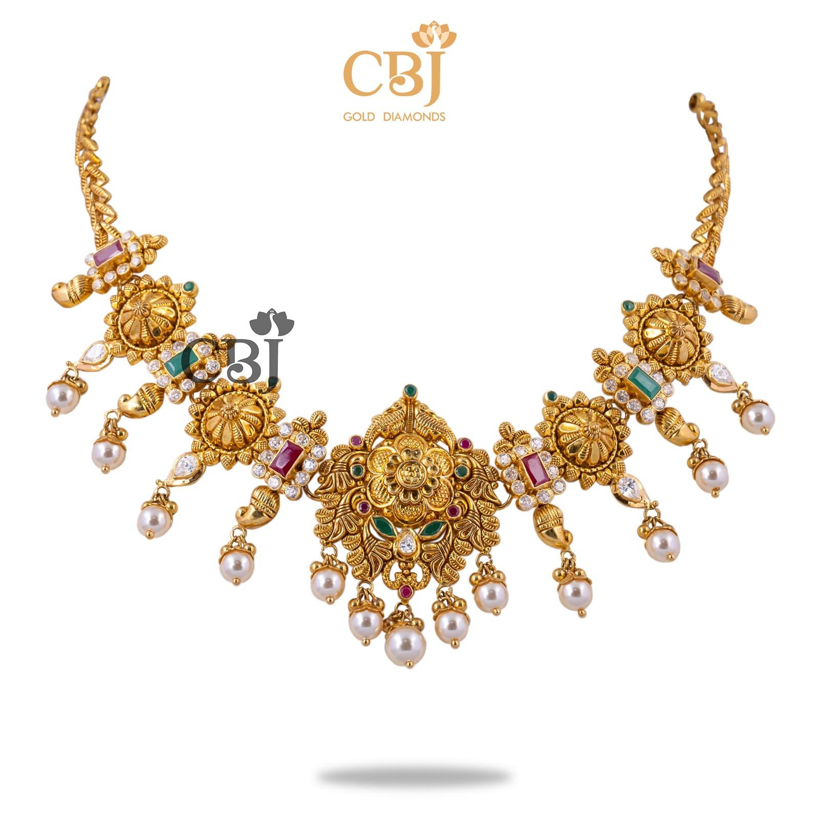 gold chakra necklace