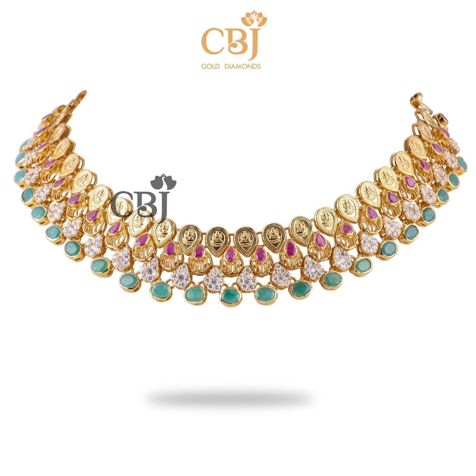CZ Studded Lakshmi Necklace