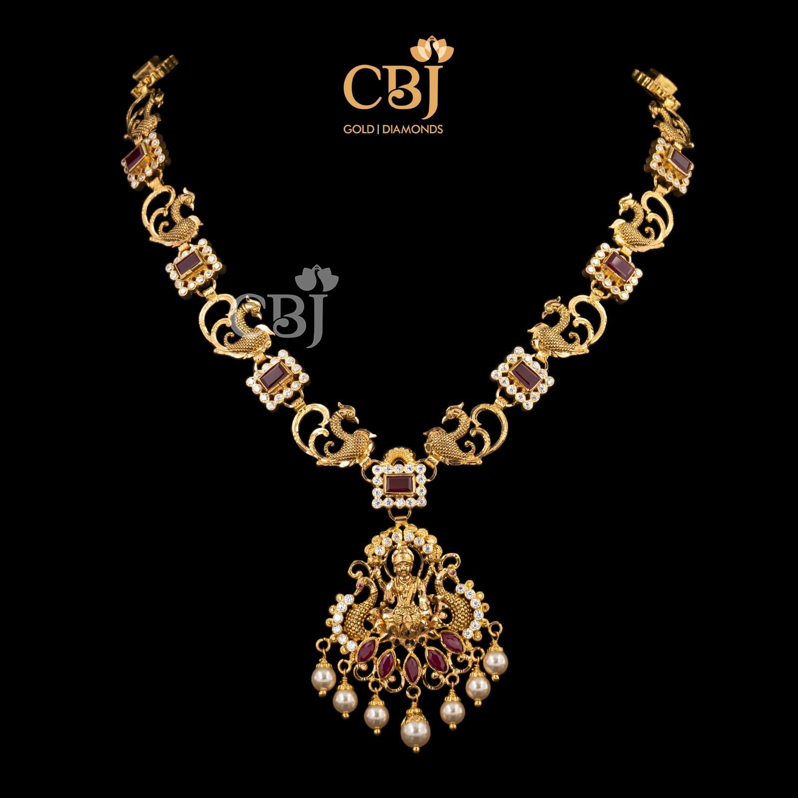 Lite Weight Onyx Lakshmi Necklace