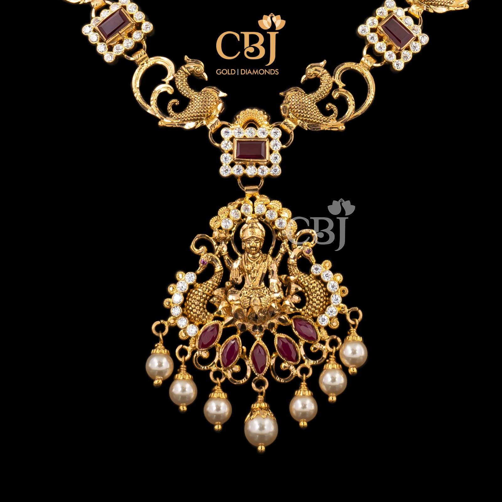 temple lakshmi necklace
