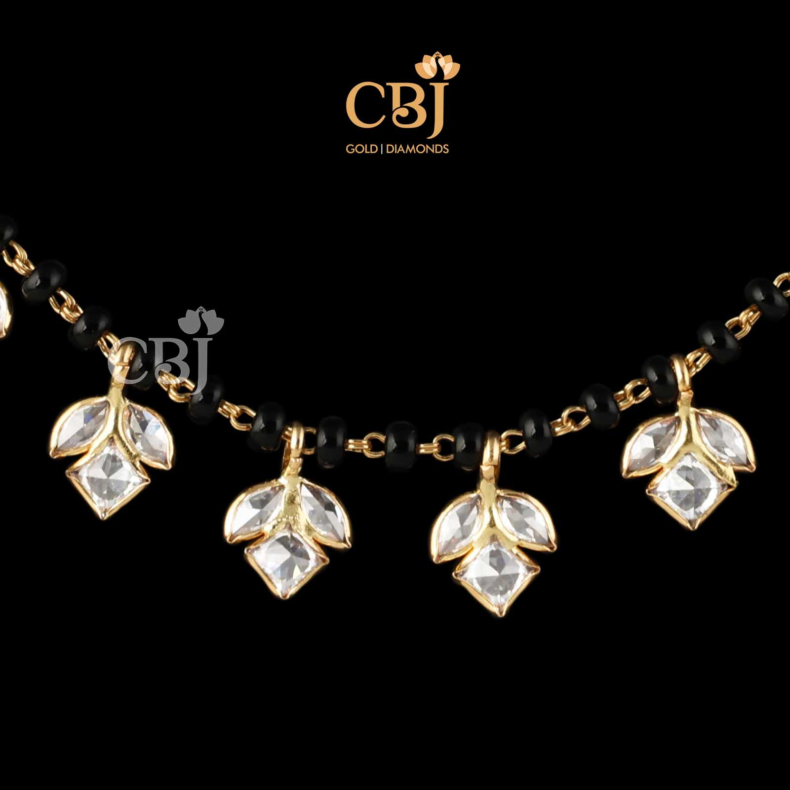 black beads jewellery